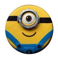 Minion One eyed Fondant cake