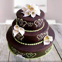 Beautiful Chocolate Mountain Cake