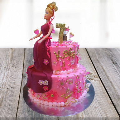 Buy Glamours Barbie Cake