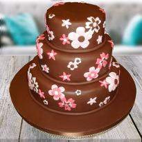 Flowery Chocolate cake