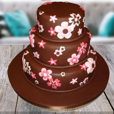 Buy Flowery Chocolate cake
