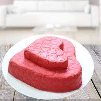 Heart Beating Strawberry Cake