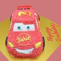 Lightening Mcqueen Car Shape cake