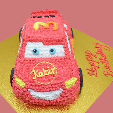 buy Lightening Mcqueen Car Shape cake
