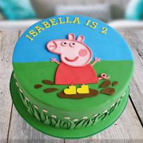 Peppa Pig Fondant Cake