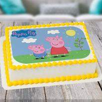 Peppa Pig Photo Cake