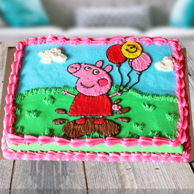 Peppa Pig Cream Cake