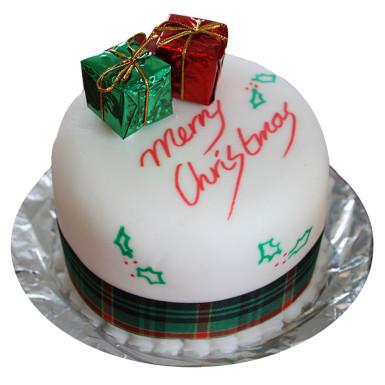 Buy Christmas Presents Fondant Cake