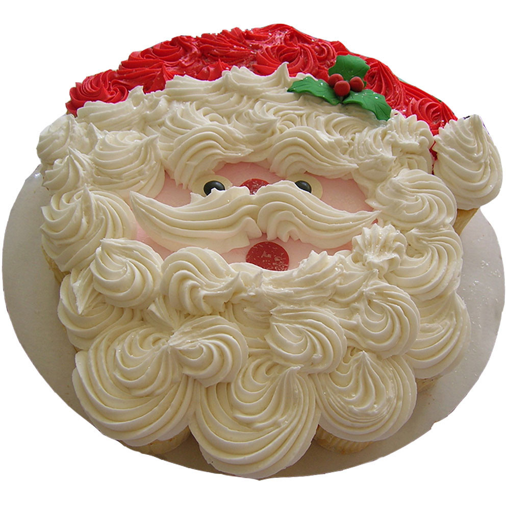 Fluffy Santa Claus Cream Cake