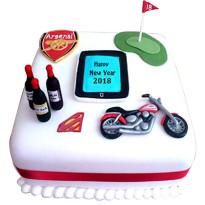 New year Fondant Cake