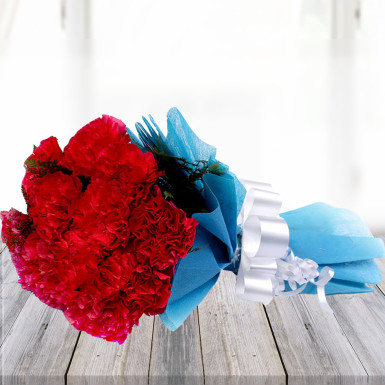 buy Bouquet of  Red Carnations