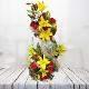 Buy 2 tier arrangement of Lilies