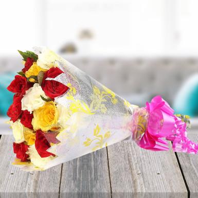 buy Pretty Bunch  A bunch of  20 Multicolor Roses