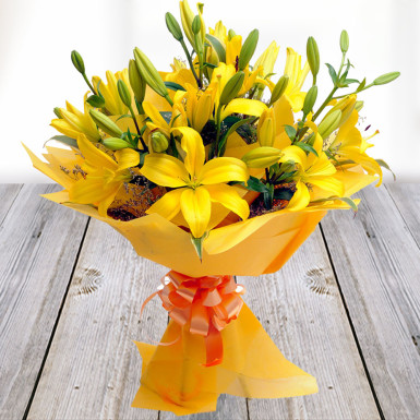 Buy A Bunch of Yellow Lilies