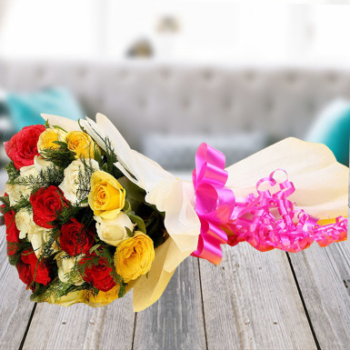 Buy Memorable Moments A bouquet of  Multicolored Roses