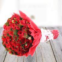 For Someone Special Red Roses in Red Packing