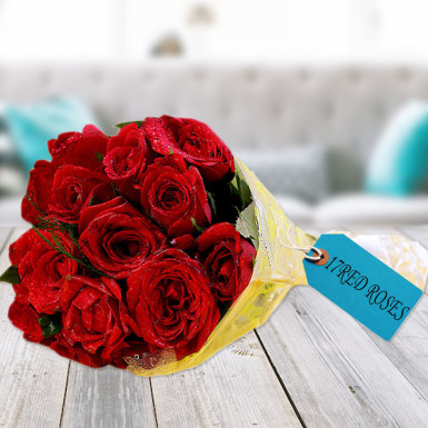 buy Exotic Red Roses Bunch