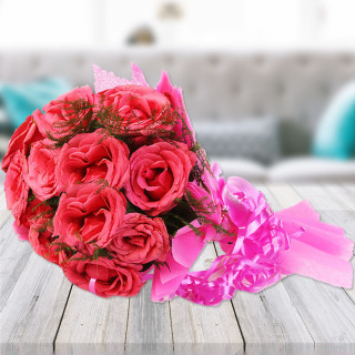 Hearty Wishes A Bunch Of Pink Roses Winni
