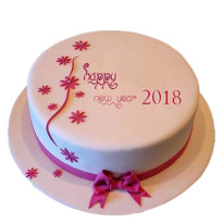 New Year Vanilla Cake
