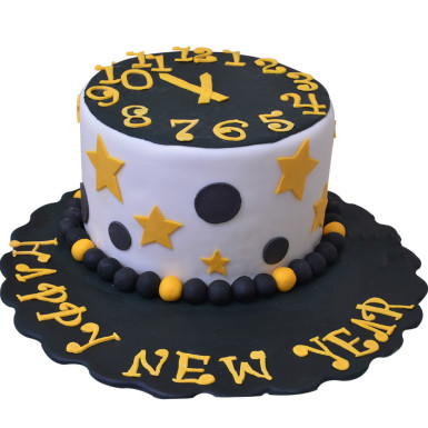 Buy Midnight Striking New Year Choco Vanilla Cake