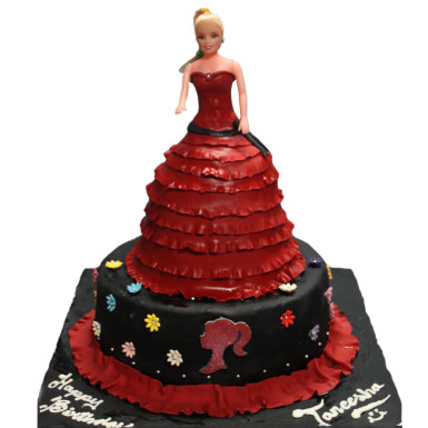 Buy Doll Red n Black Cake