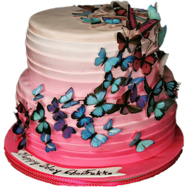 98bd587cdc Fluttering Butterfly Cake