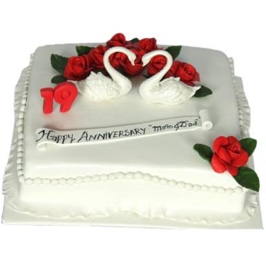 Buy White Swan Pair Cake
