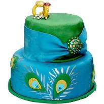 Royal Peacock Wedding Cake