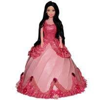 Pink Dress Barbie Cake