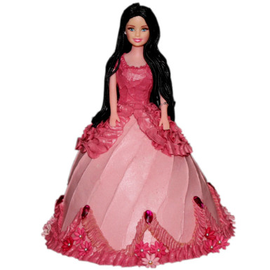 Buy Pink Dress Barbie Cake