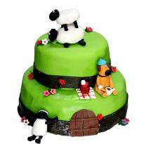 Sheep 2 Tier Cake