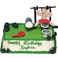 Green Gym Cake