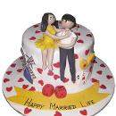 Lovely Marriage Cake