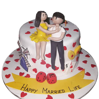 Buy Lovely Marriage Cake