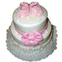 Baby Girl 2 tier cake