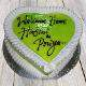 Buy Kiwi heart shape cake