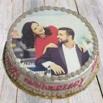 Couple photo cake