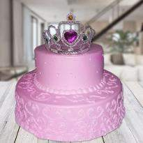 Strawberry princess 2 tier cake