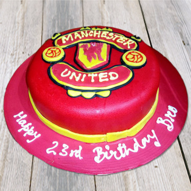 Buy Manchester United Red cake