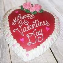 Vanilla valentines heart shape cake