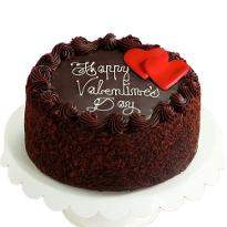 Chocolate valentines day cake