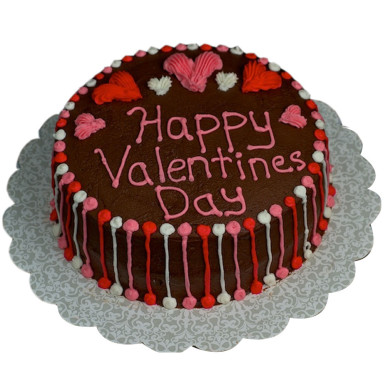 Buy Pretty valentines chocolate cake