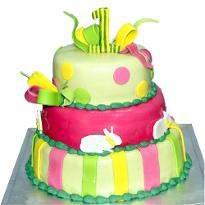Vanilla valentine day cake