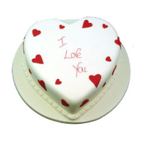 Pineapple Valentines heart cake