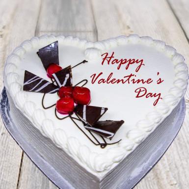 Buy Valentine special vanilla heart shape cake