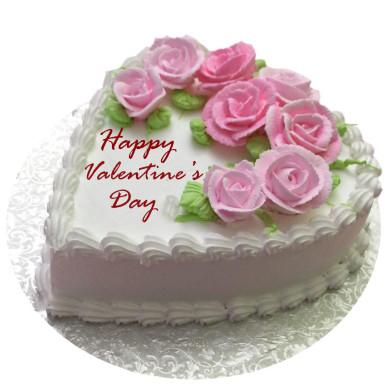 buy Valentines flowery vanilla cake