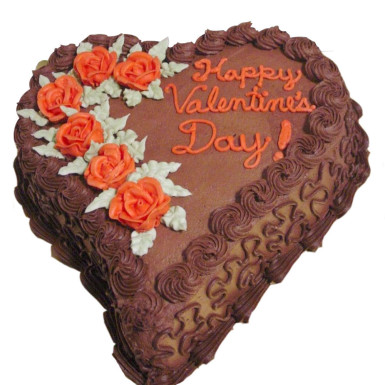 Buy Happy valentines day chocolate heart shape cake