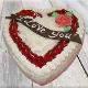 Buy I love you heart shape vanilla cake