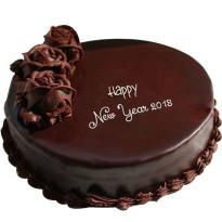 New Year Plain Chocolate Cake