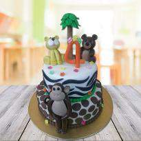 Kids special jungle cake